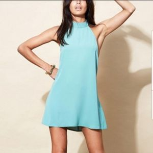 Mini Halter Dress Hemlock Green Size M (10 -12)